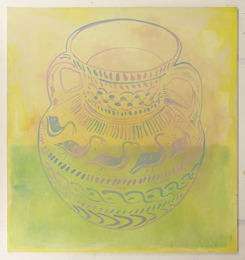 Amy Cochrane - Amphora 1 on Yellow - 2013 - Oil on Canvas - 170x180cm