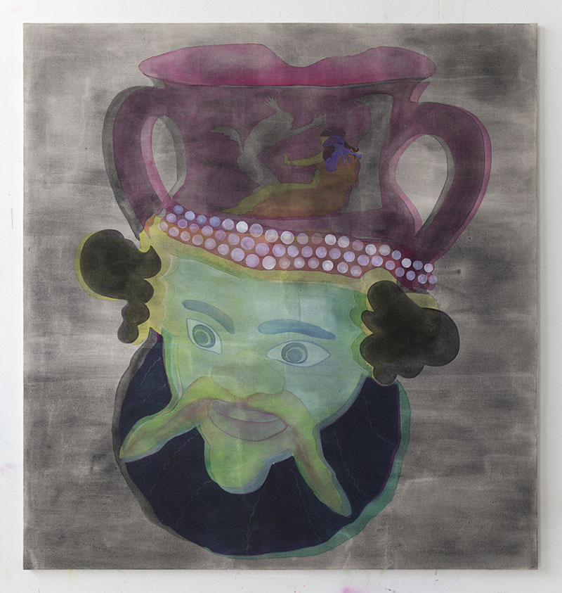 Amy Cochrane - Oinochoe in the form of a Man - 2014 - Acrylic on Canvas - 180x170cm
