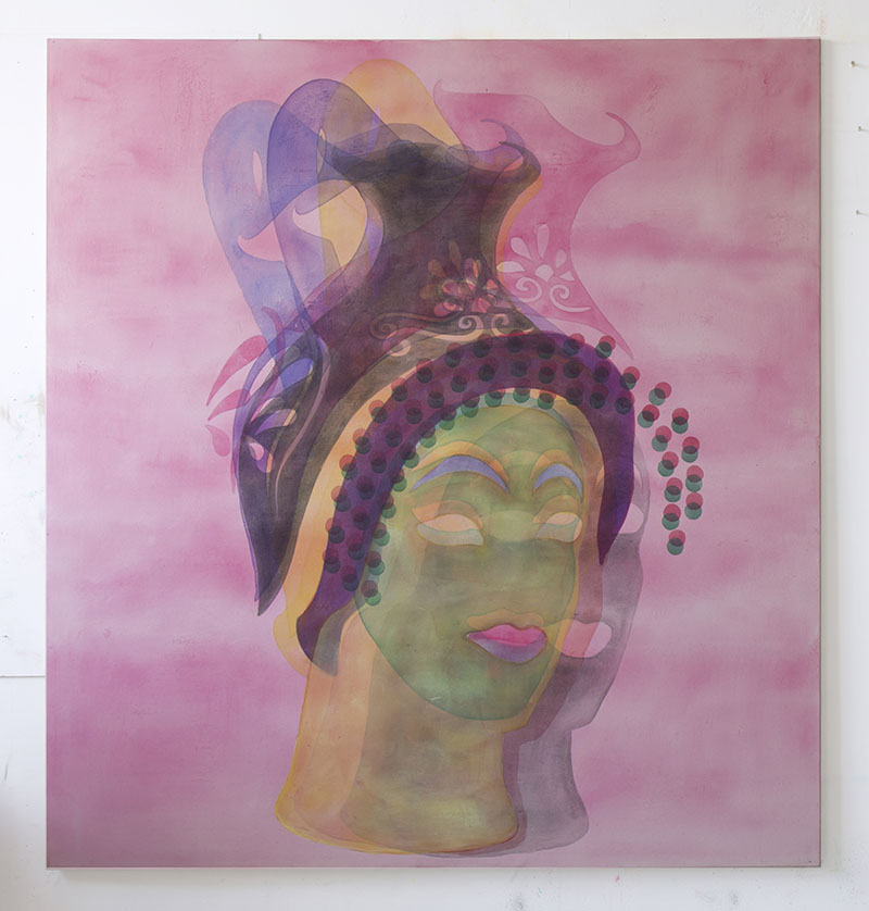 Amy Cochrane - Oinochoe in the form of a Woman - 2015 - Acrylic on Canvas - 180 x 170 cm